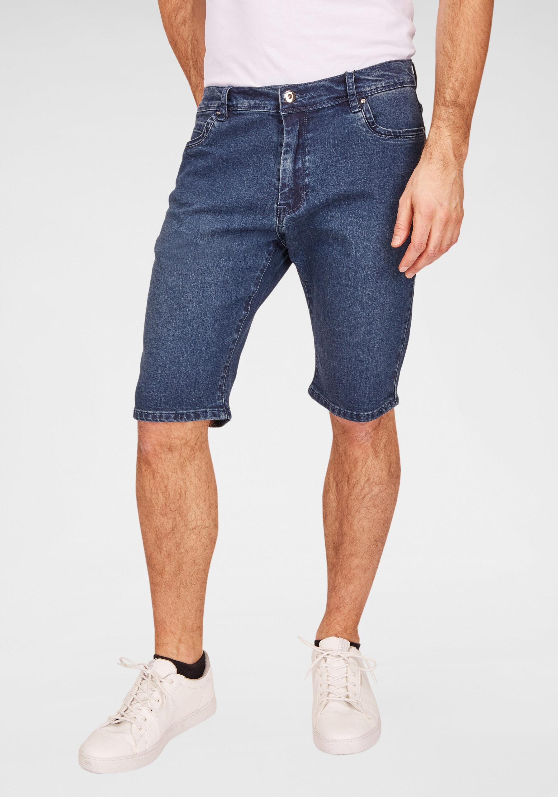 Herren Jeans Shorts blau