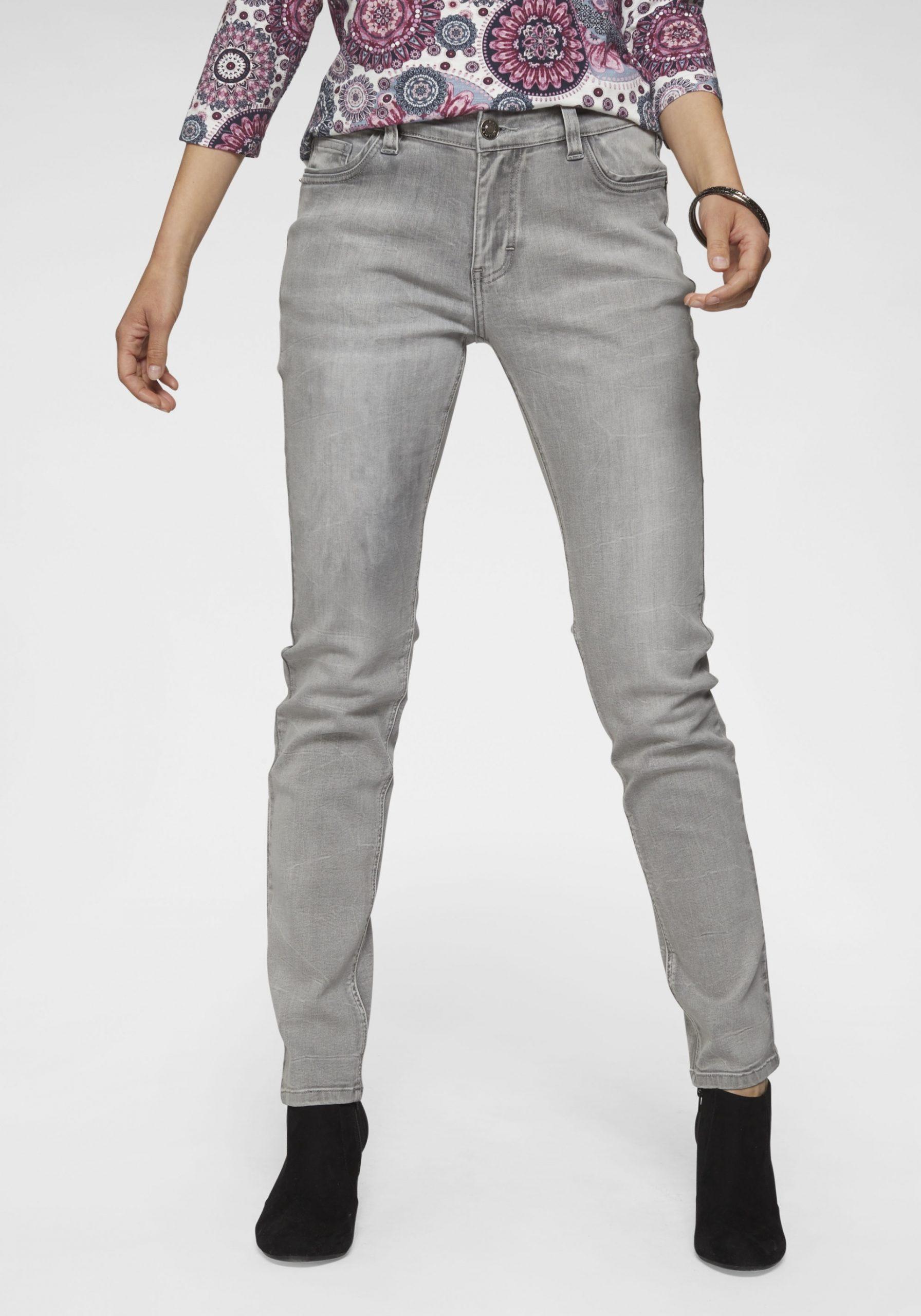 Damen Stretchige Jeans grau
