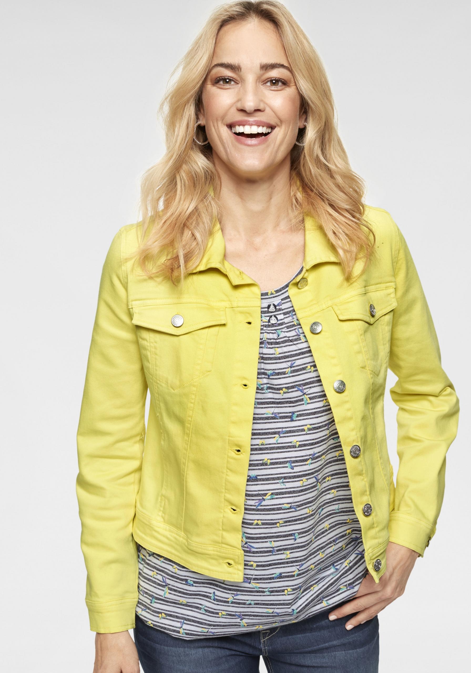 Damen Allround-Jeansjacke gelb