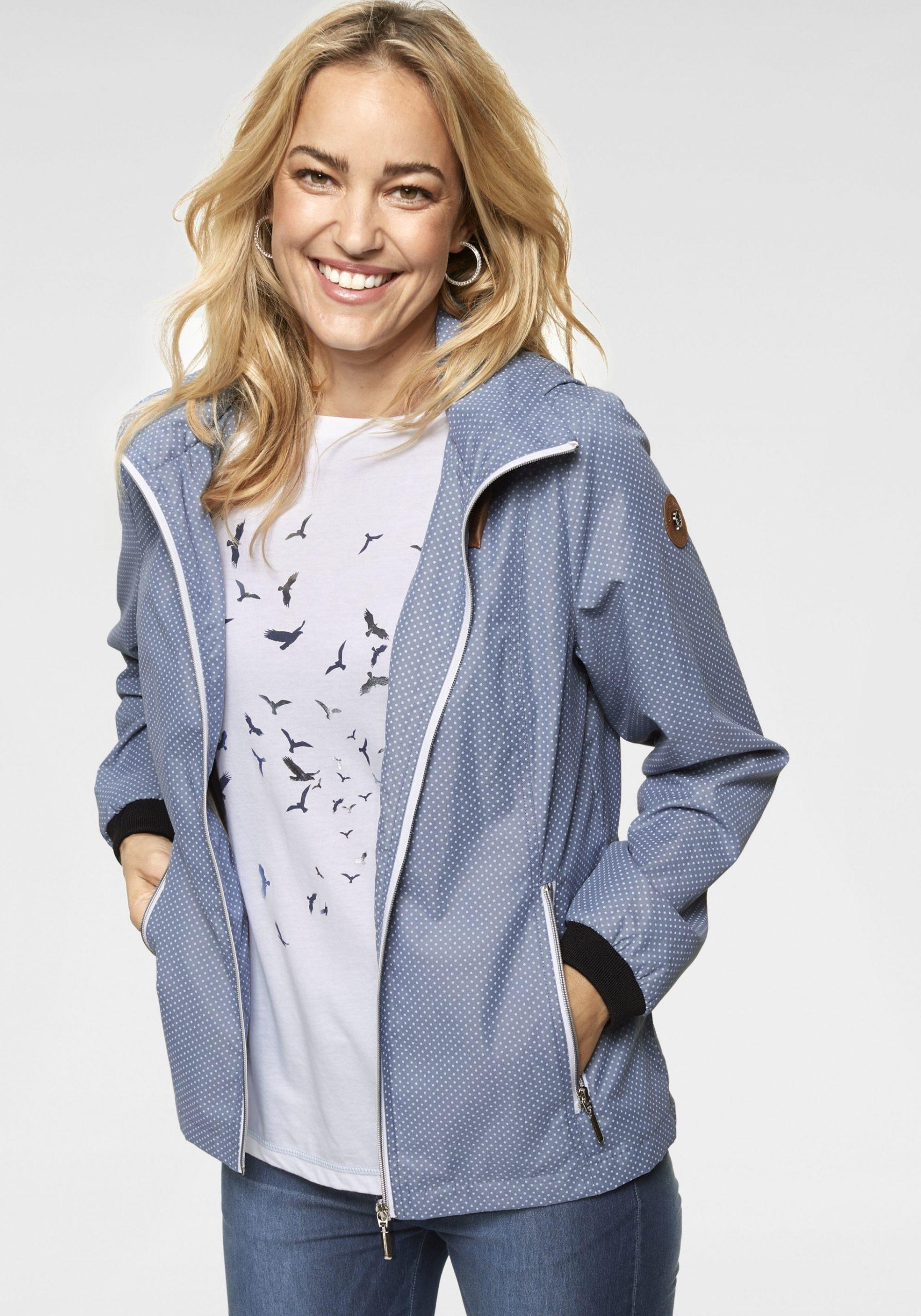 Damen Feminine Jacke blau