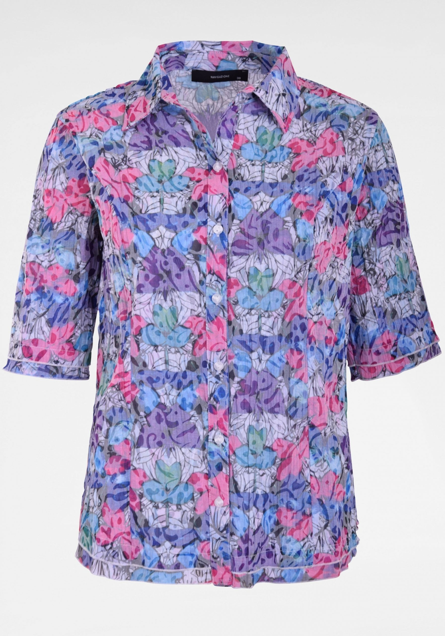 Damen Multicolour Crushbluse