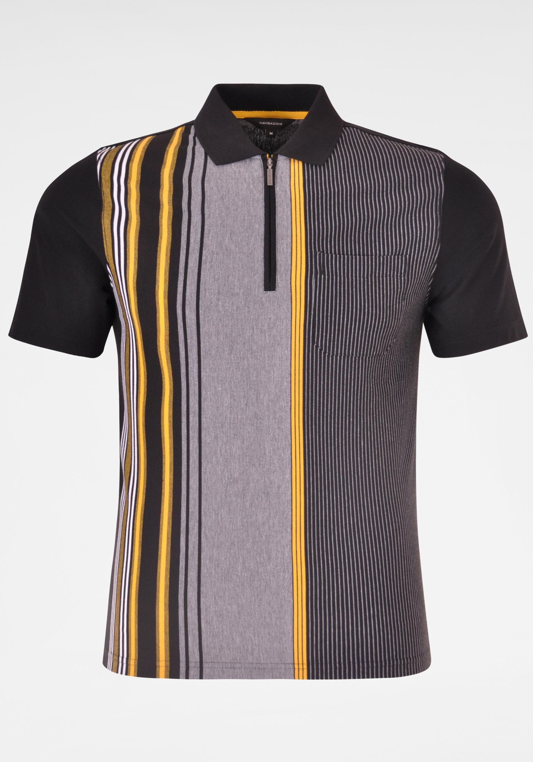 Herren Poloshirt mit vertikalen Linien