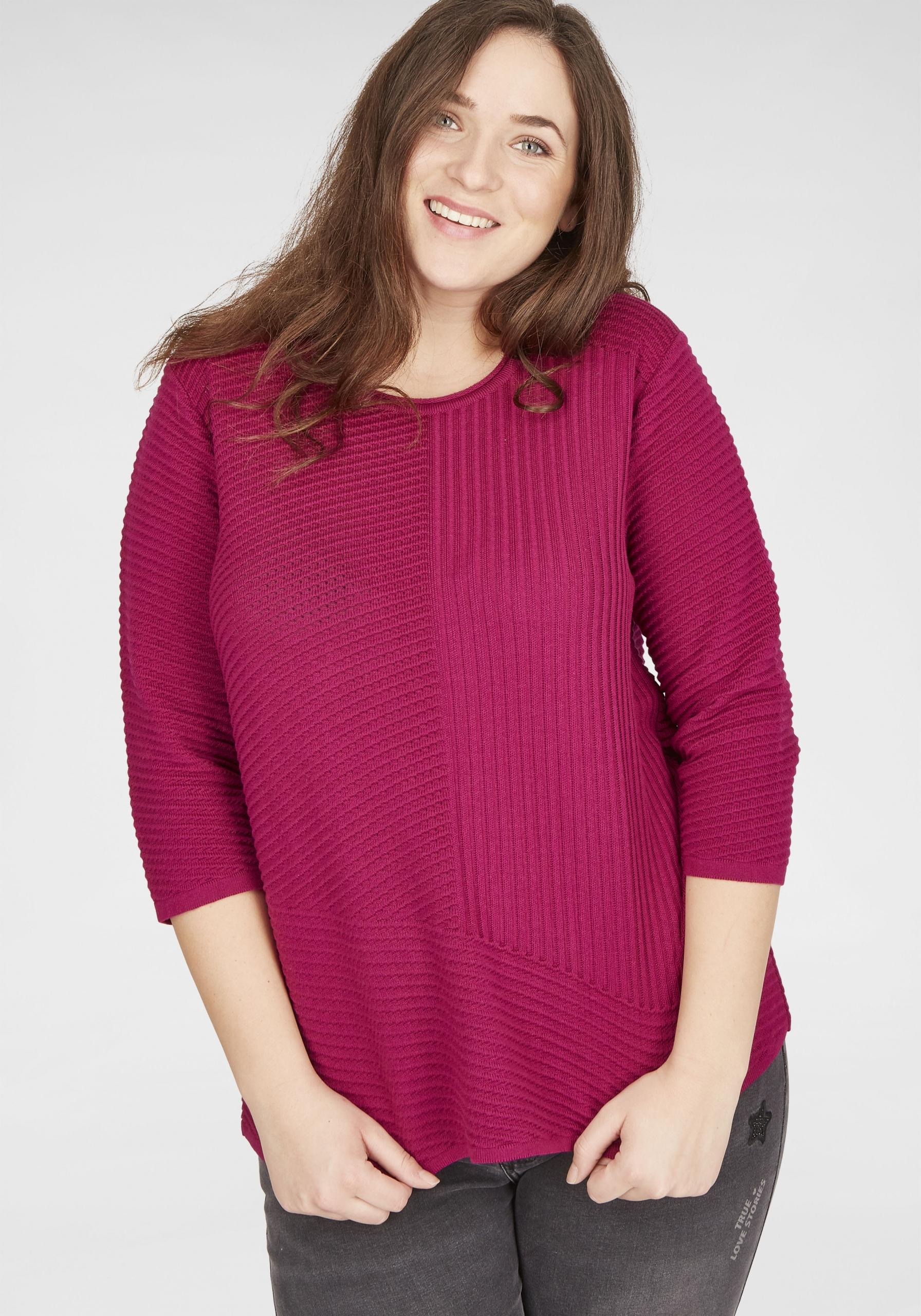 Damen Pullover mit Struktur-Design in großen Größen