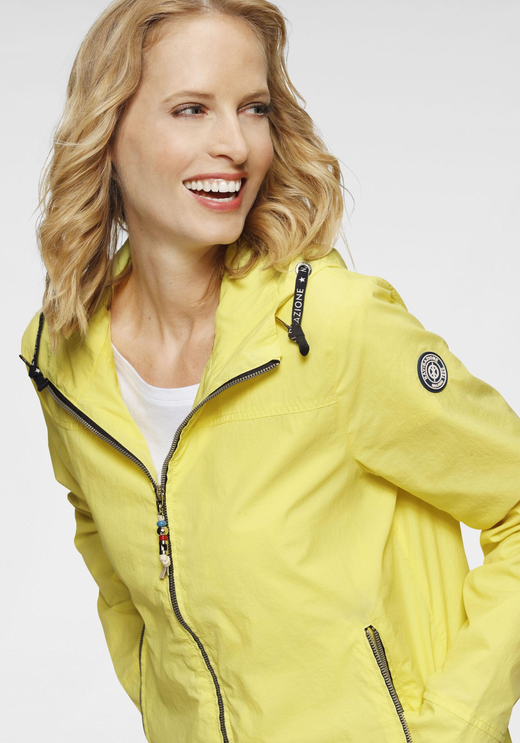 Damen Zarte Jacke gelb