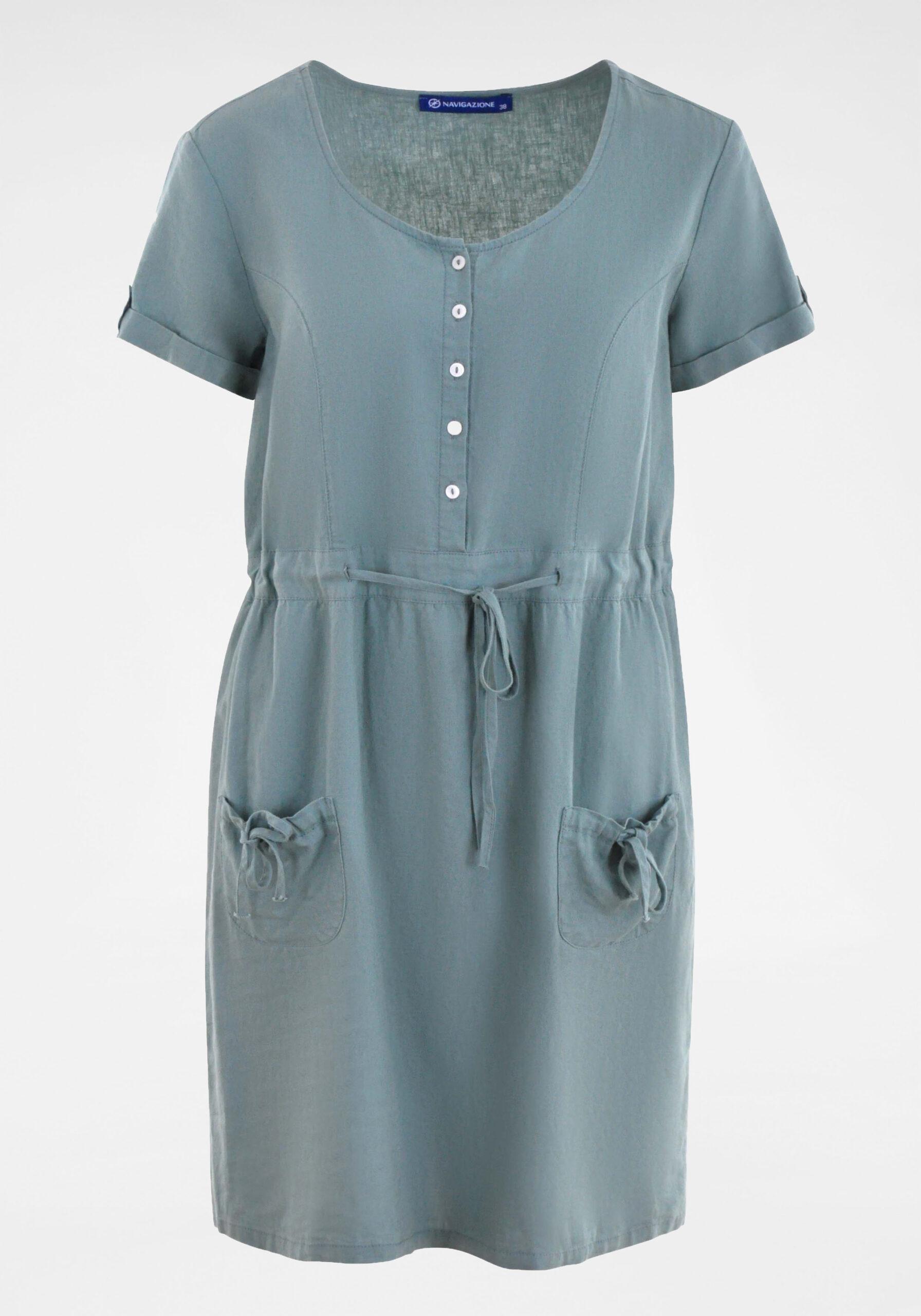 Damen Olivfarbenes Kleid
