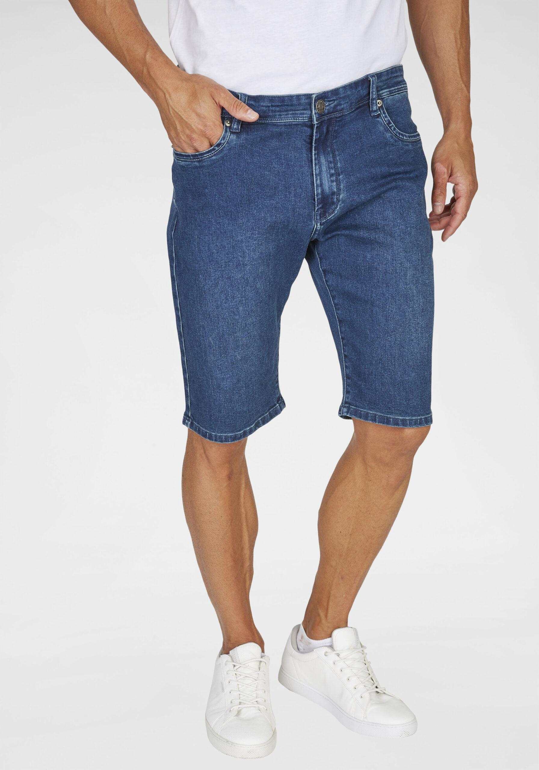 Herren Jeans Shorts dunkelblau