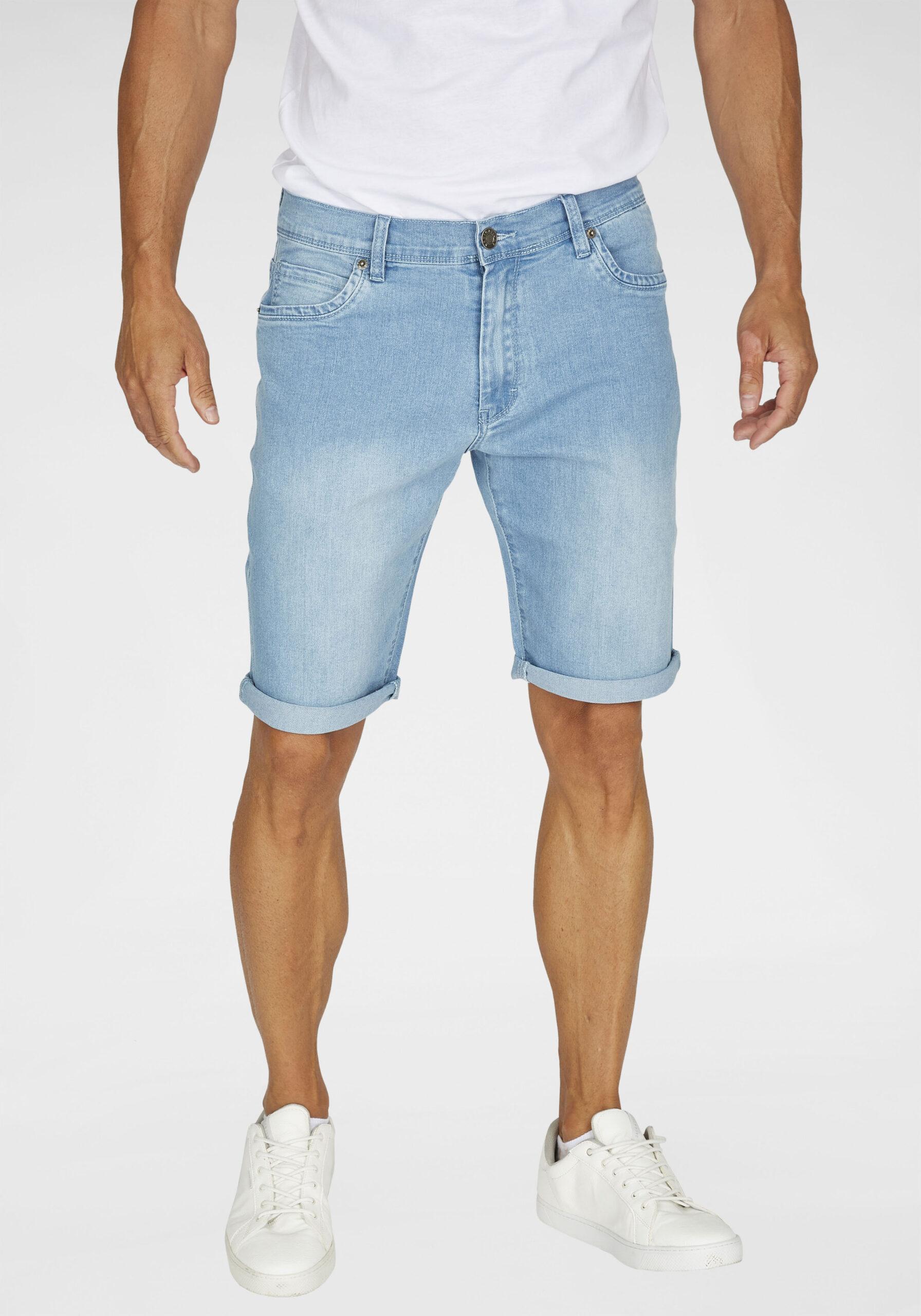 Herren Jeans Shorts hellblau