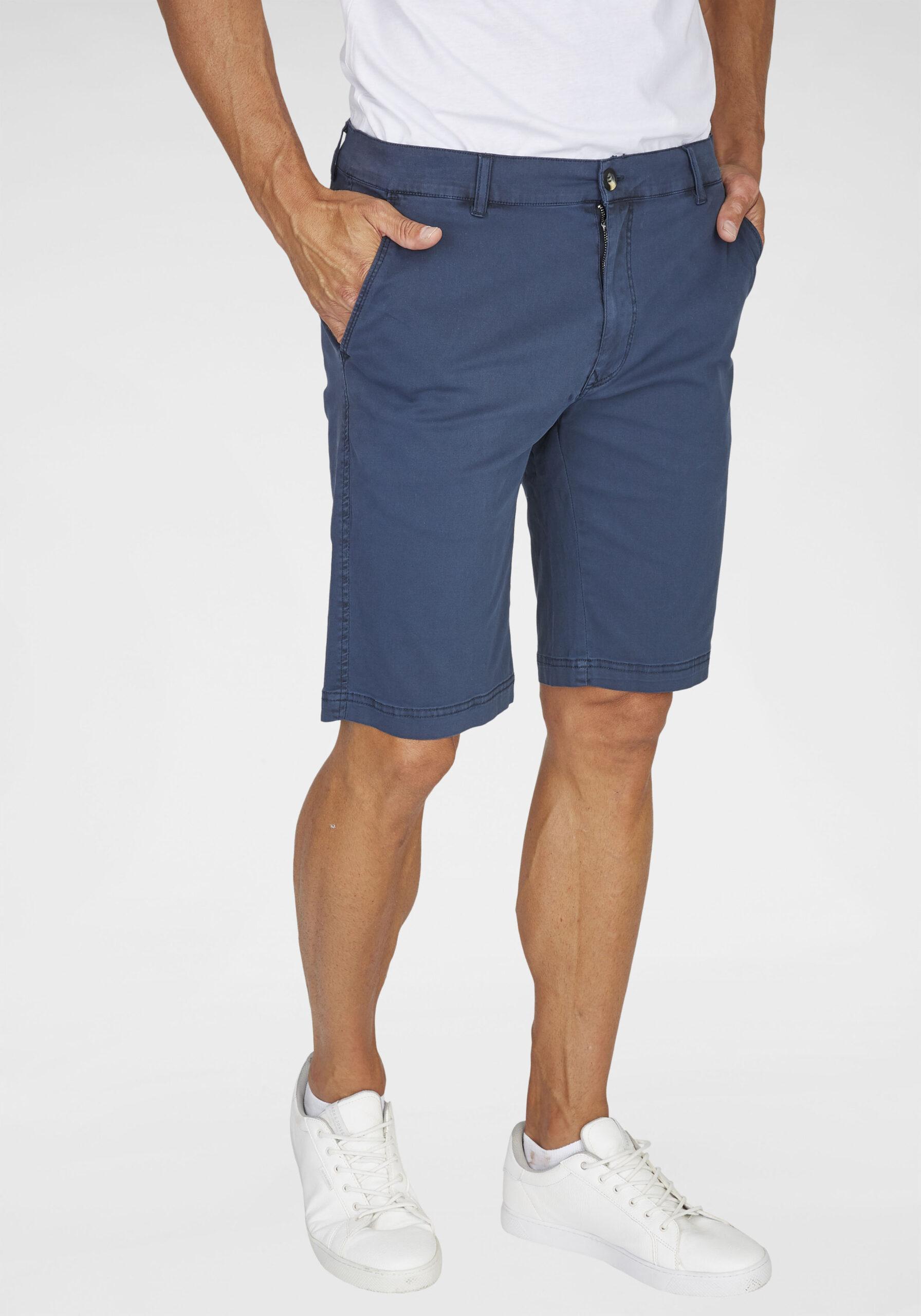 Herren Elegante Bermudahose blau