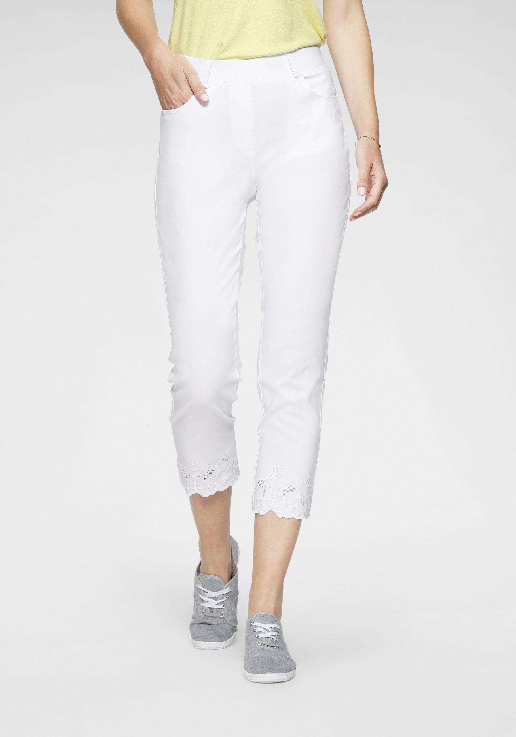 Damen Stretch-Hose mit Stickerei